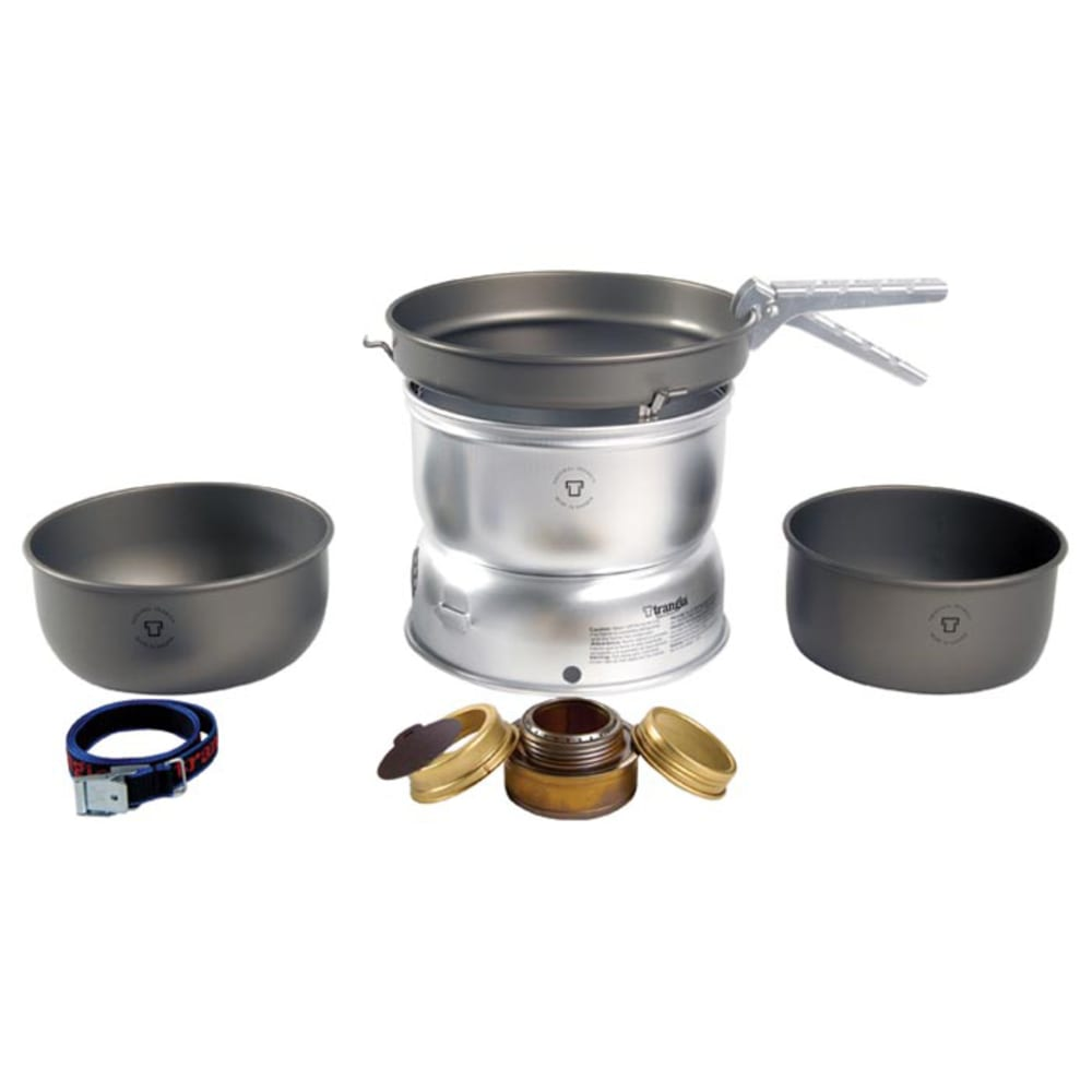 TRANGIA 25-7 Ultralight Hard Anodized Alcohol Stove Kit with Spirit Burner - NO COLOR