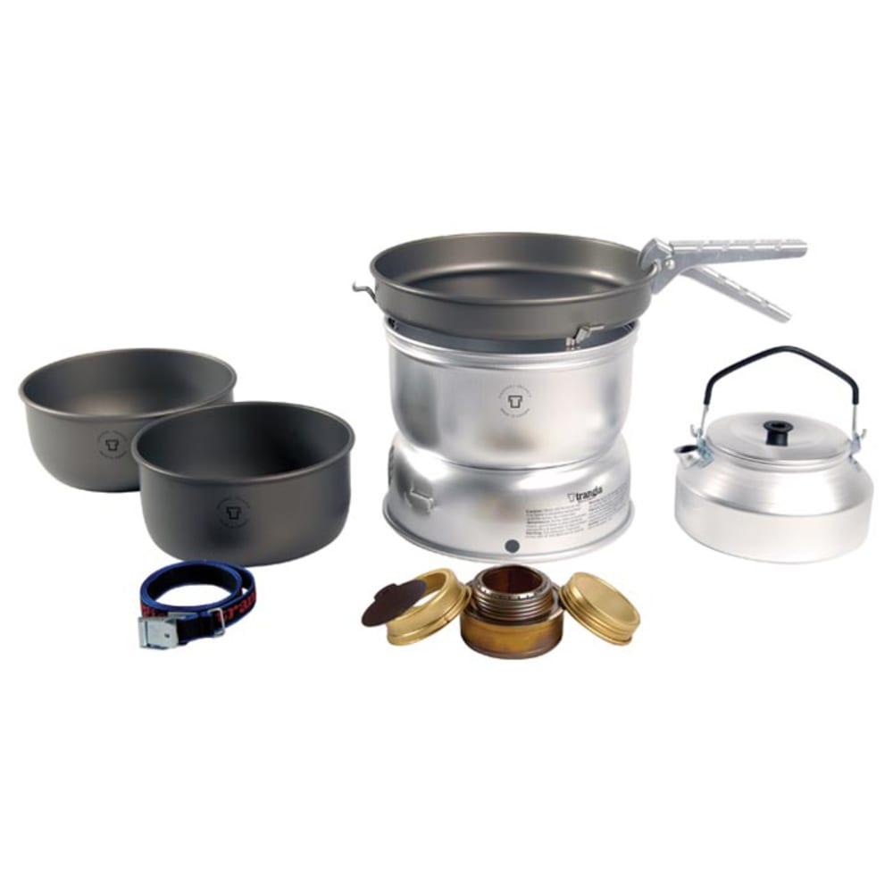 TRANGIA 25-8 Ultralight Hard Anodized Stove Kit with Gas Burner NO SIZE