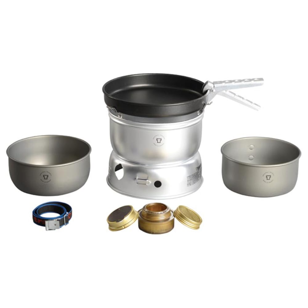 TRANGIA 25-9 Ultralight Hard Anodized Alcohol Stove Kit with Windshield - NO COLOR