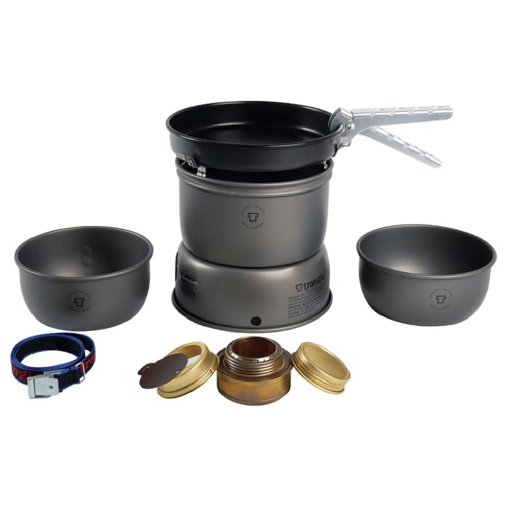 TRANGIA 27-3 Ultralight Hard Anodized Alcohol Stove Kit with Windscreens - NO COLOR