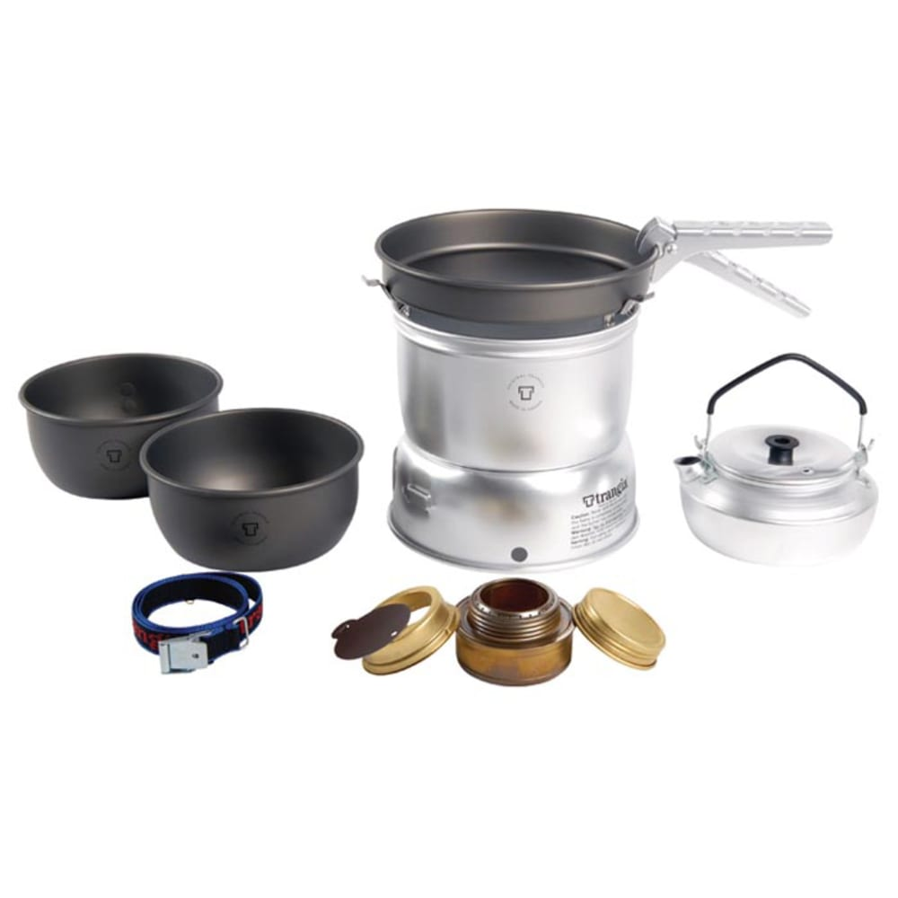 TRANGIA 27-8 Complete Ultralight Hard Anodized Alcohol Stove Kit - NO COLOR