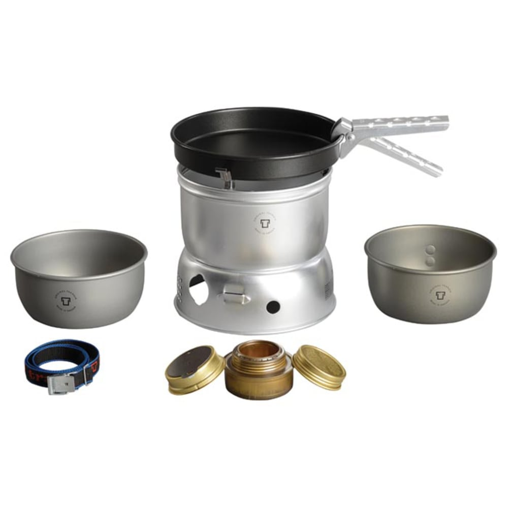 TRANGIA 27-9 Ultralight Hard Anodized Alcohol Stove Kit with Windshield - NO COLOR