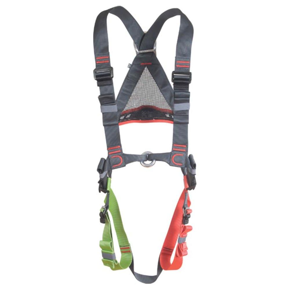 EDELWEISS Explorer Harness, Small/Medium - DK GREY/GREEN/RED