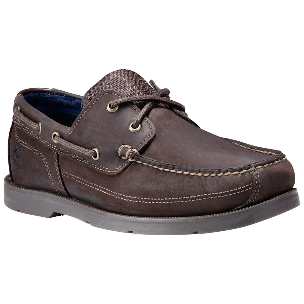 TIMBERLAND Men's Piper Cove Boat Shoes, Dark Brown 12