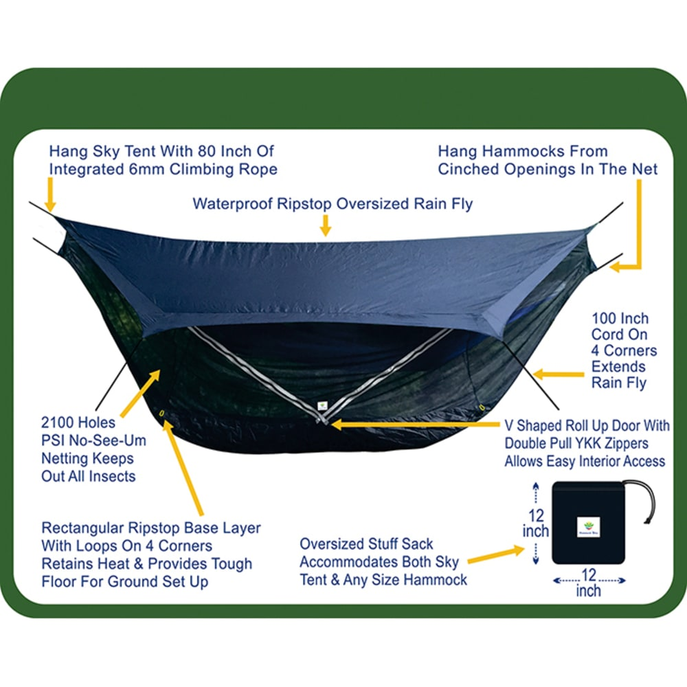 HAMMOCK BLISS Sky Tent 2 - BLUE