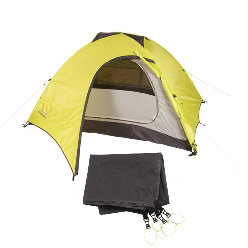 PEREGRINE Radama 2 Person Tent + Footprint Combo - LIME/GREY