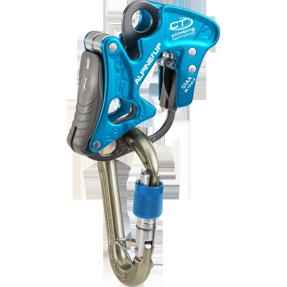 CLIMBING TECHNOLOGY Alpine-Up Belay Device + HMS - BLUE
