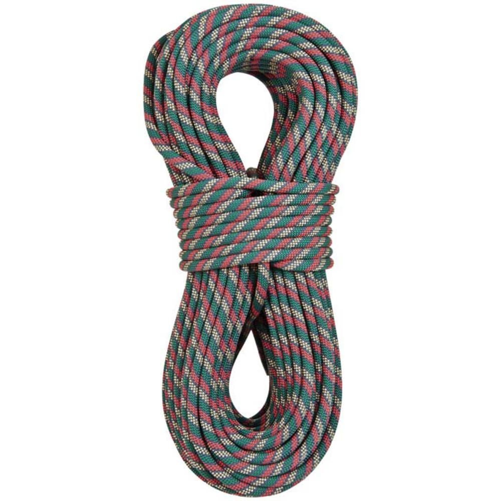 LIBERTY MOUNTAIN PRO Python Dynamic 11mm x 50m Rope - GREEN/WHITE/RED