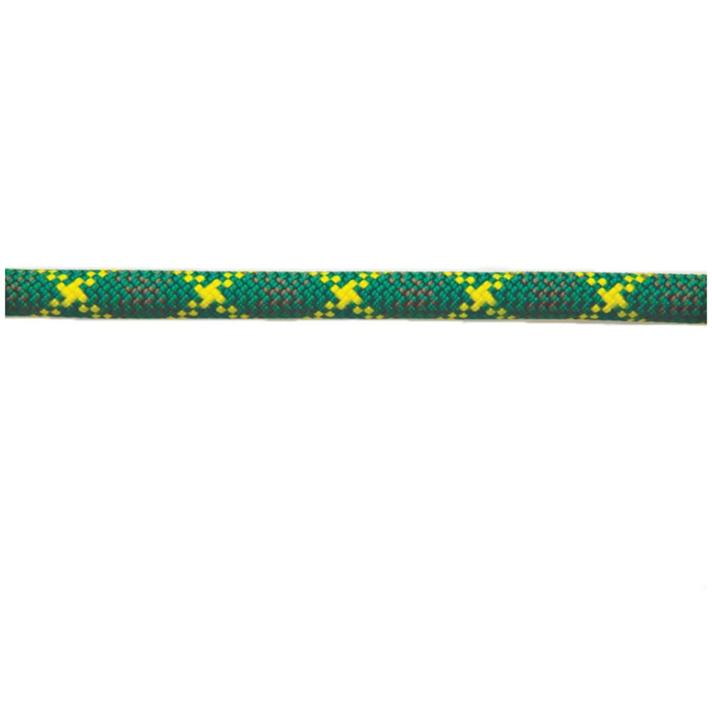 NEW ENGLAND ROPES Apex 10.5mm x 70m Rope, Dry - GREEN/YELLOW