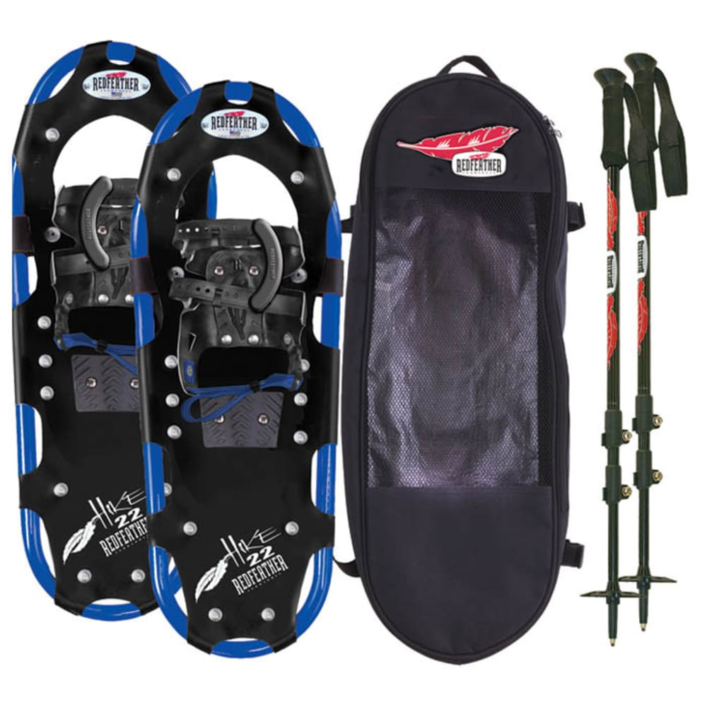 "REDFEATHER Hike Series 8"" x 22"" Snowshoes Kit - BLACK/BLUE"