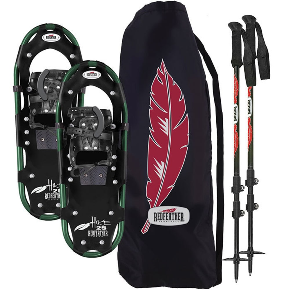 REDFEATHER Hike Series 8 x 25 Snowshoes Kit - BLACK/GREEN