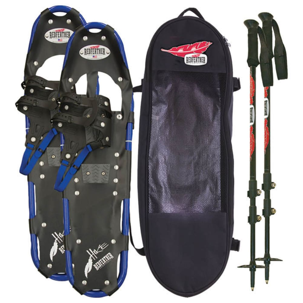 """REDFEATHER Hike Series 9.5"""" x 36"""" Snowshoes Kit - BLACK/BLUE"""