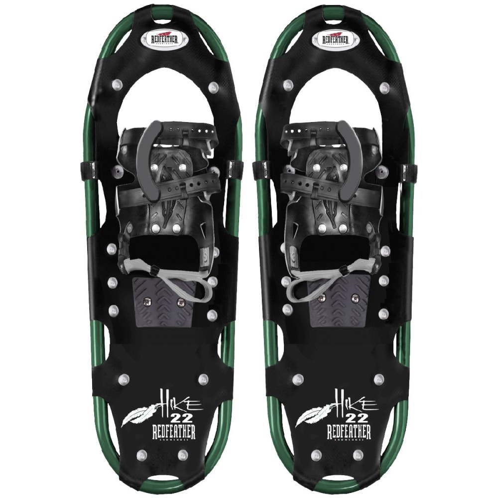 """REDFEATHER Hike Series 7.5"""" x 22"""" Women's Snowshoes - BLACK/GREEN"""