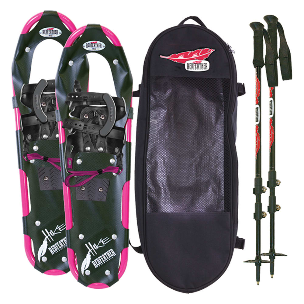 """REDFEATHER Hike Series 7.5"""" x 25"""" Women's Snowshoes Kit - BLACK/PINK"""