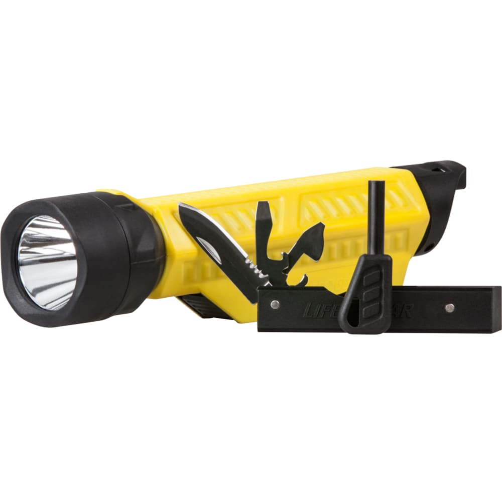 LIFE GEAR Sport Utility LED 300 Flashlight with Multi-Tool - YELLOW