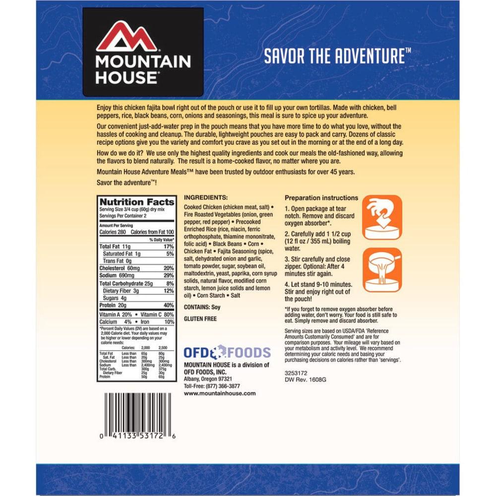 MOUNTAIN HOUSE Chicken Fajita Bowl - NO COLOR