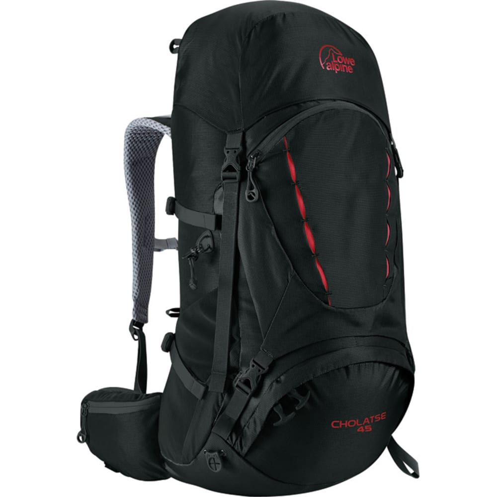 LOWE ALPINE Cholatse 45 Backpack  - BLACK/DARK SLATE