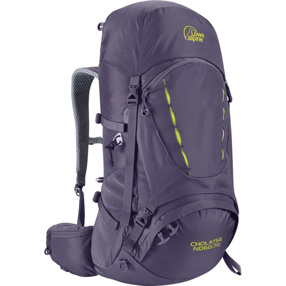 LOWE ALPINE Cholatse ND60:70 Women's Backpack - AUBERGINE/BLUE PRINT
