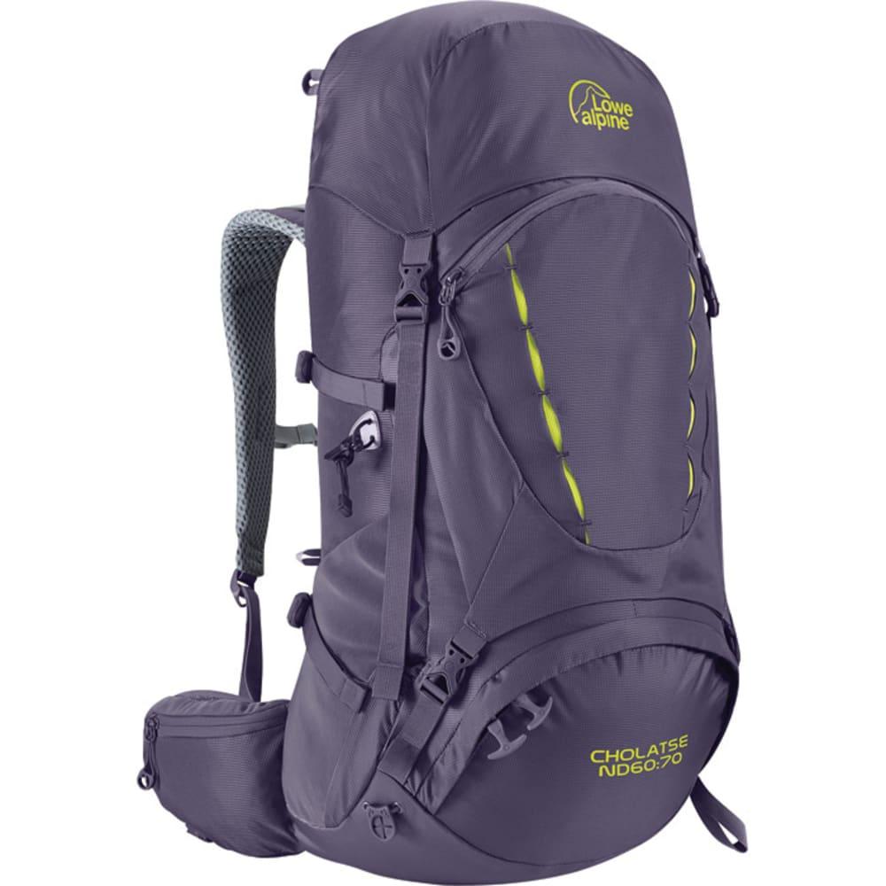 LOWE ALPINE Cholatse ND60:70 Women's Backpack - AUBERGINE/BLUE PRINT