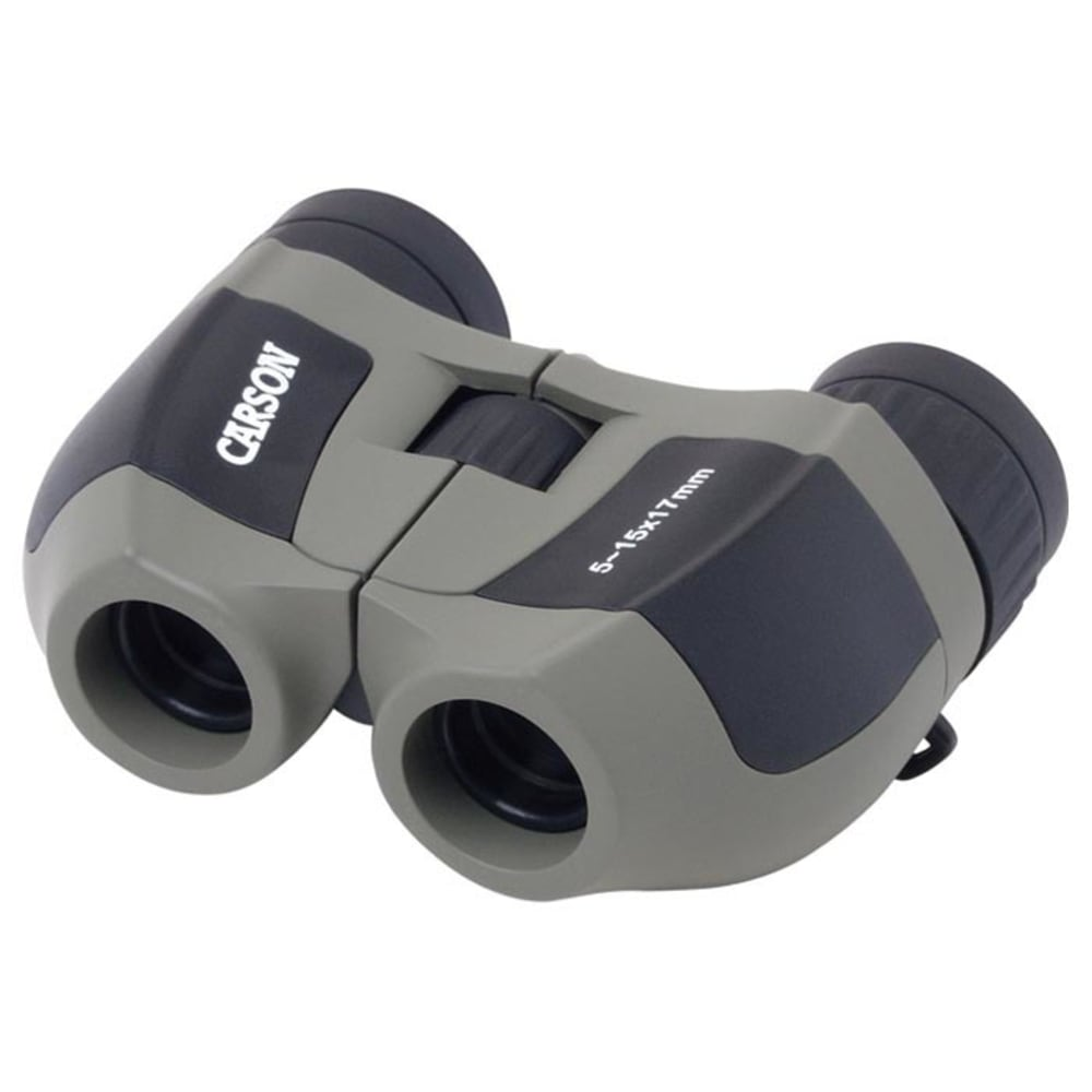 CARSON OPTICAL Compact MiniZoom 5-15x 17mm Binoculars - GREY