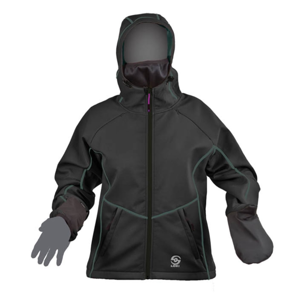 LOKI Women's Mountain Jacket - BLACK