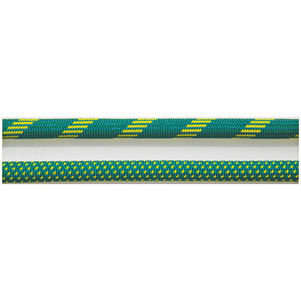 NEW ENGLAND ROPES Glider Bi 10.2 mm x 60m Rope, 2X Dry, Green/Yellow - GREEN/YELLOW