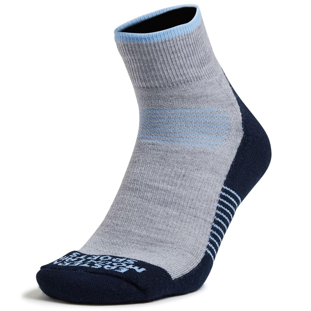 EMS Men's Track Lite Quarter Socks - DENIM BLUE