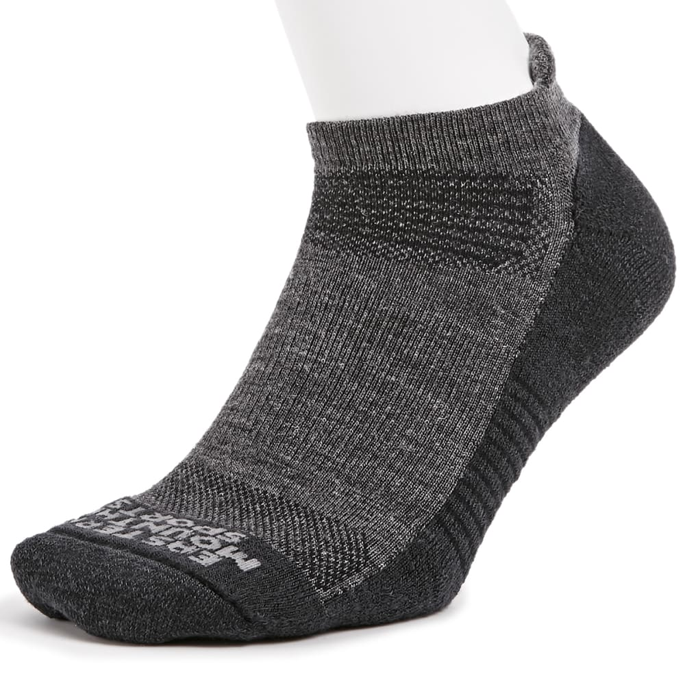 EMS Men's Track Lite Tab Ankle Socks - EBONY 07078