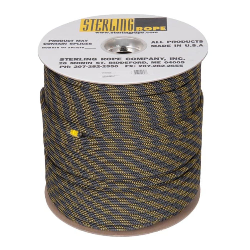 STERLING Big Gym 10.7 mm x 200 m Rope - BLACK