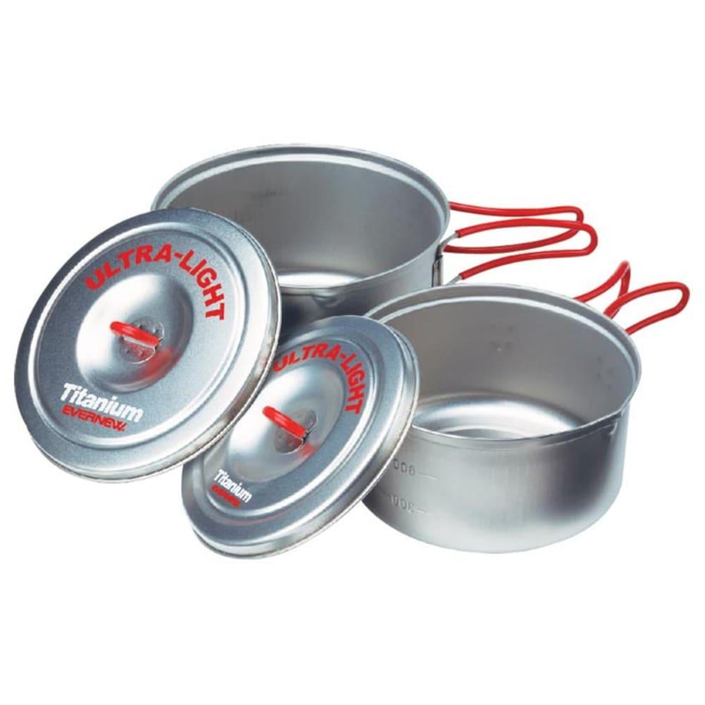 EVERNEW Titanium Ultra-Light Medium Pot Set - NO COLOR