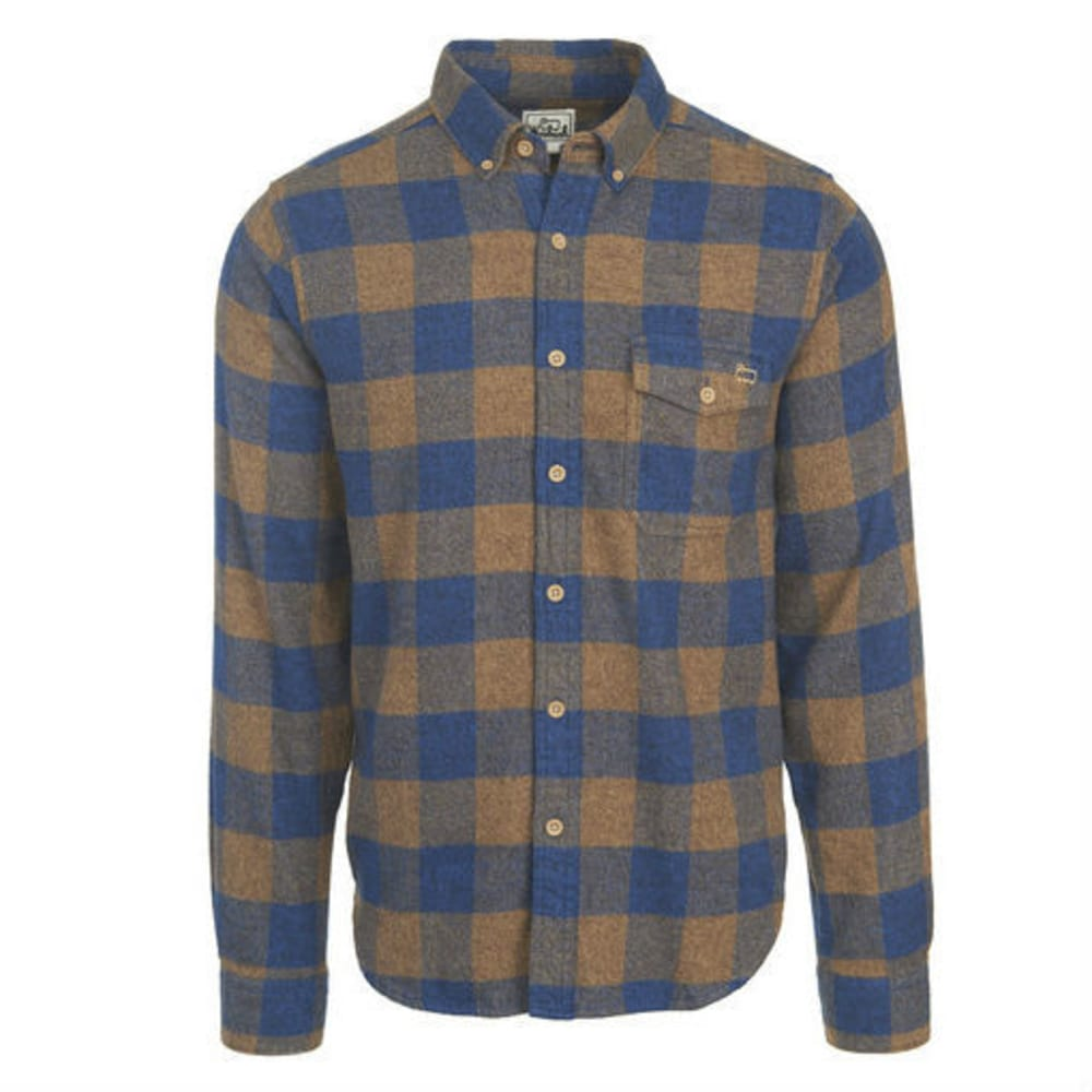 WOOLRICH Men's Twisted Rich Flannel Long-Sleeve Shirt - CAMEL