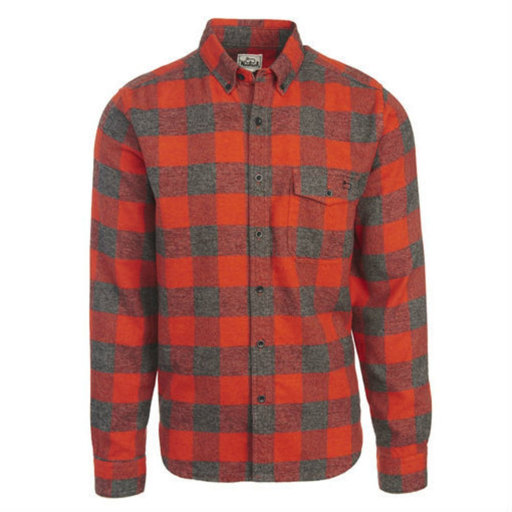 WOOLRICH Men's Twisted Rich Flannel Long-Sleeve Shirt - OLD RED