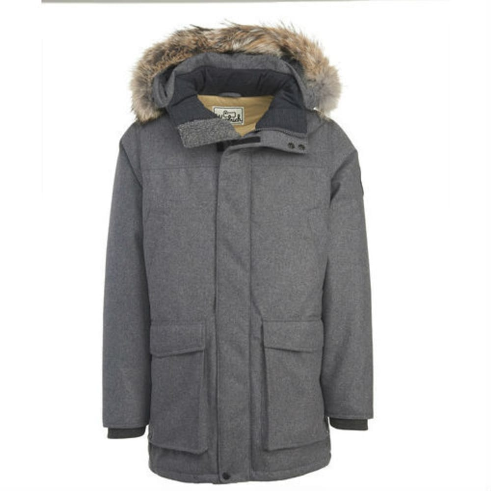 WOOLRICH Men's Wool Patrol Down Parka - CHARCOAL HEATHER