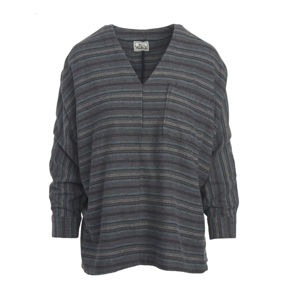 WOOLRICH Women's Twisted Rich Popover - BLACK STRIPE