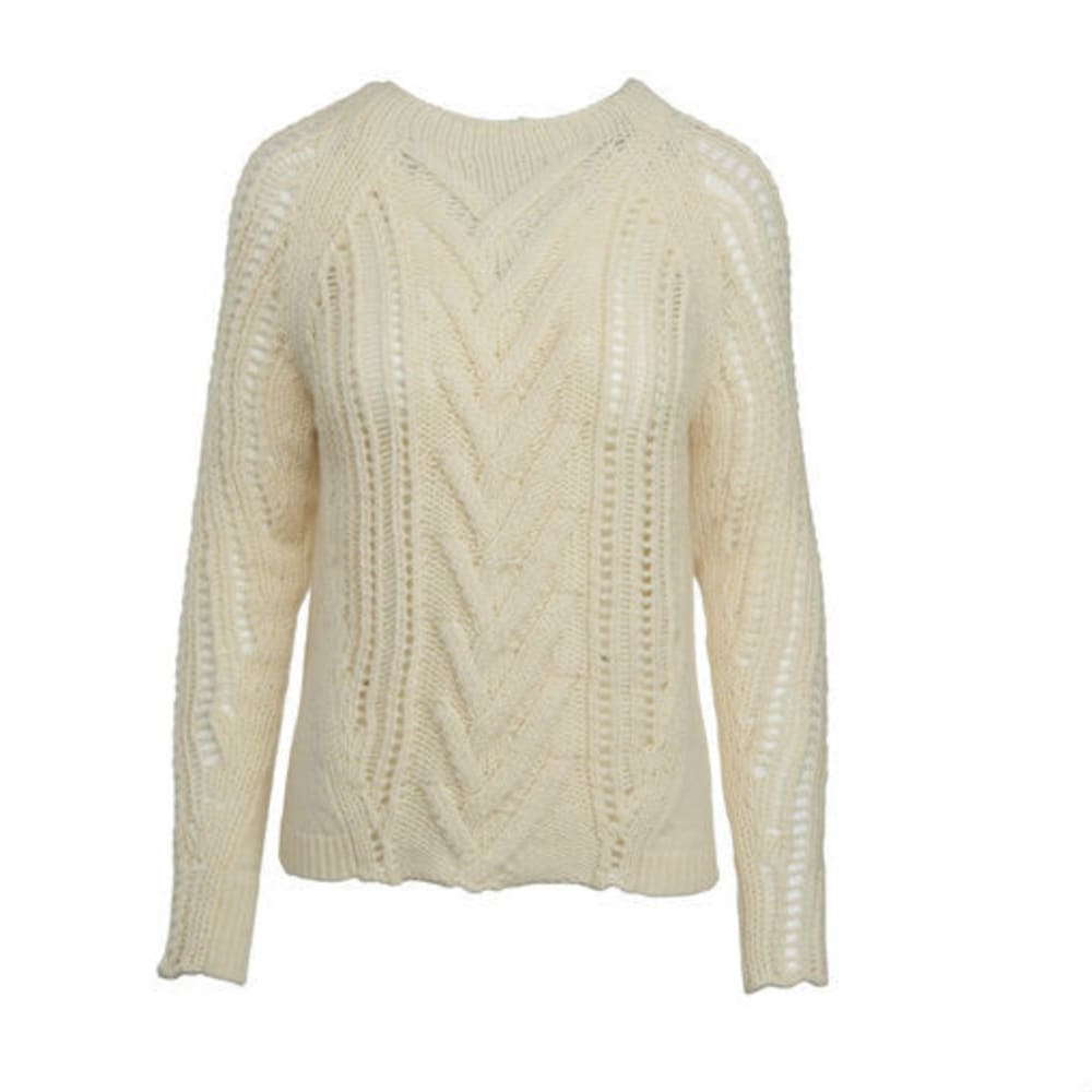 WOOLRICH Women's Lambwool Blend Crew Sweater - WOOL CREAM