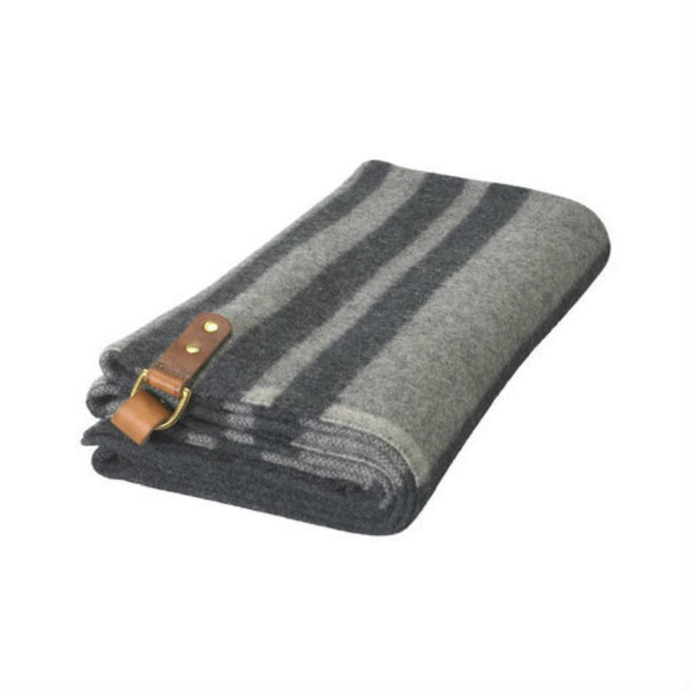 WOOLRICH Fireside II Wool Blanket Poncho - DARK GREY