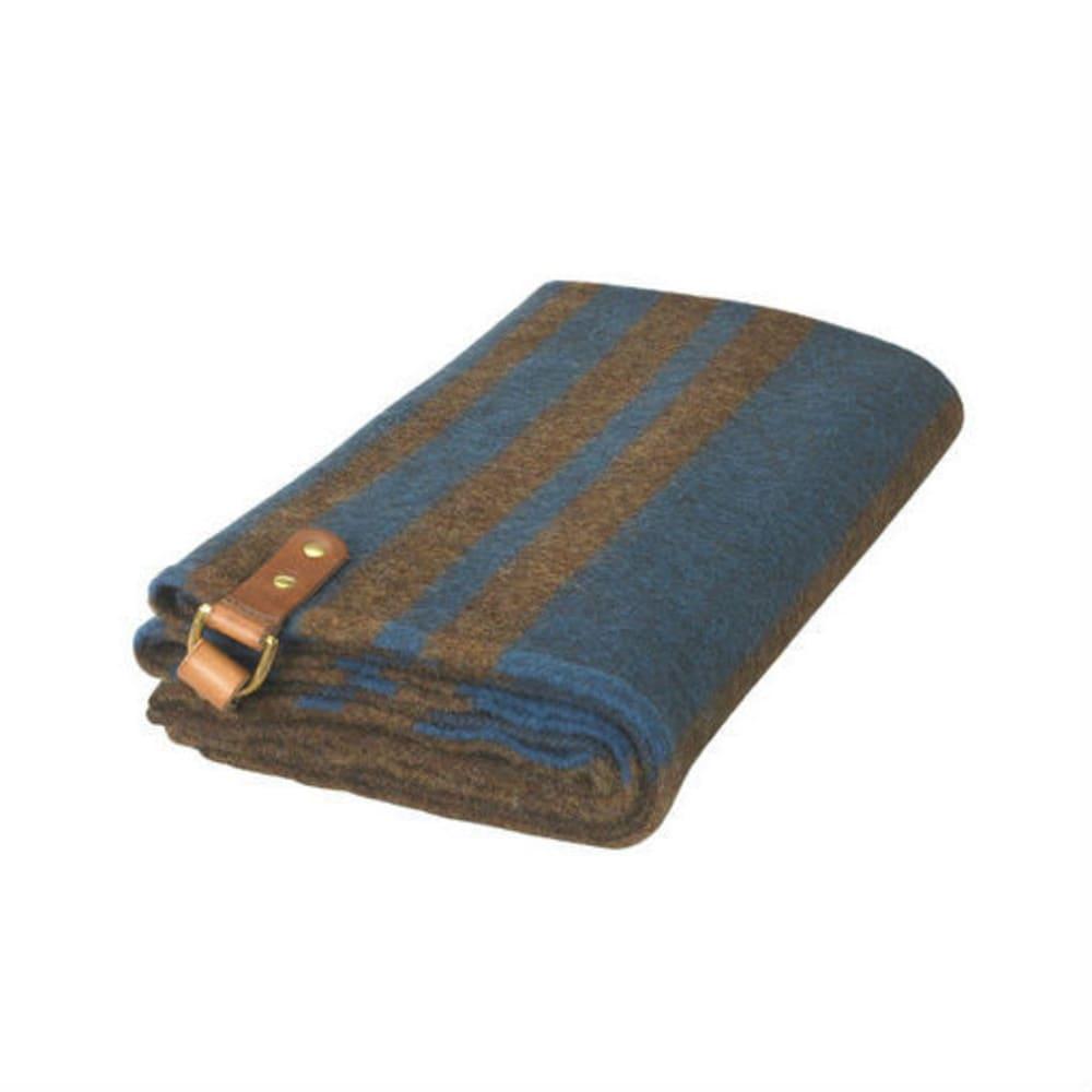 WOOLRICH Fireside II Wool Blanket Poncho - BROWN