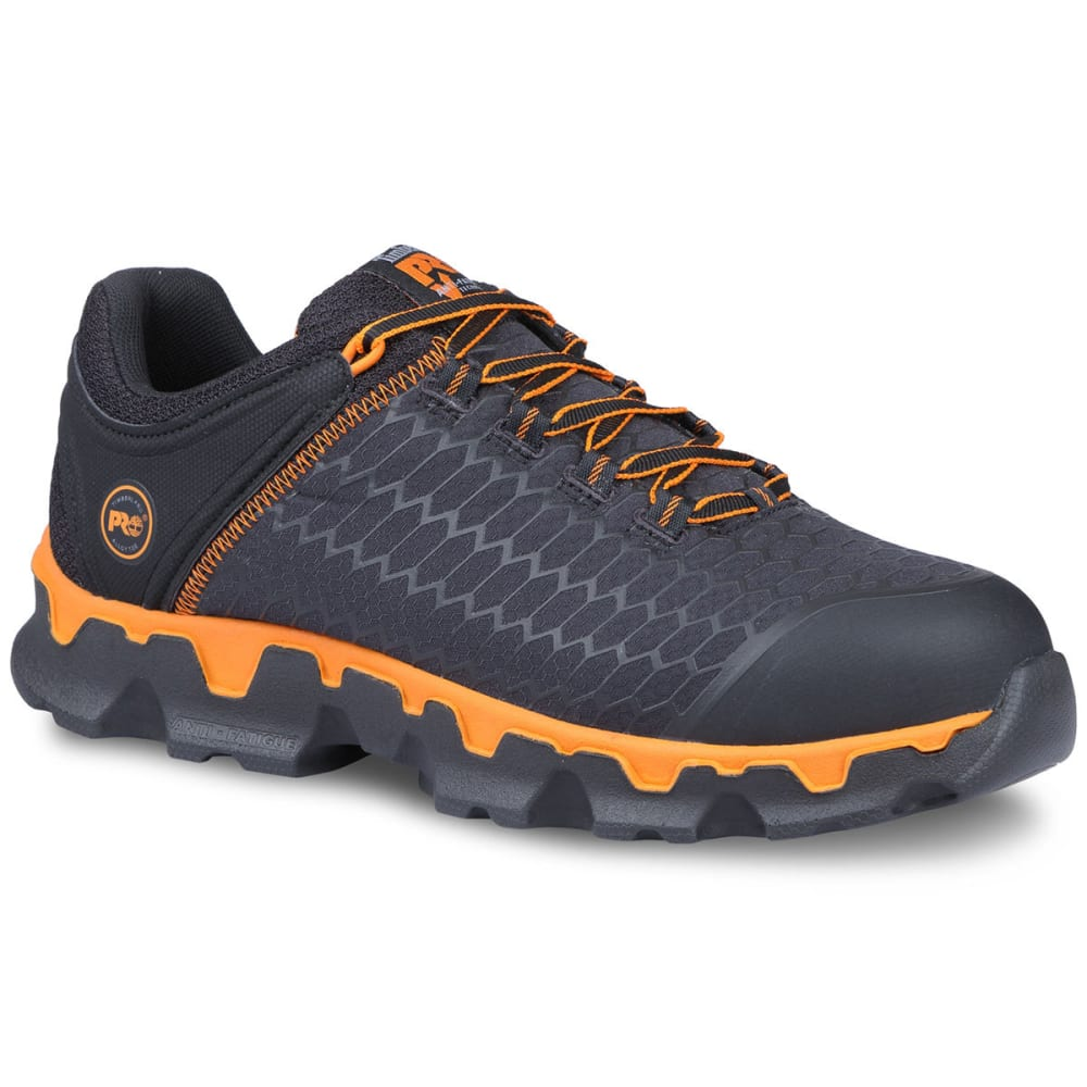 TIMBERLAND PRO Men's Powertrain Sport Alloy Safety Toe EH Work Shoes - 001 BLACK/ORG