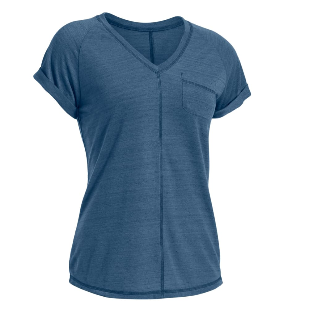 EMS® Women's Ethereal Short-Sleeve Shirt - ENSIGN BLUE HTR