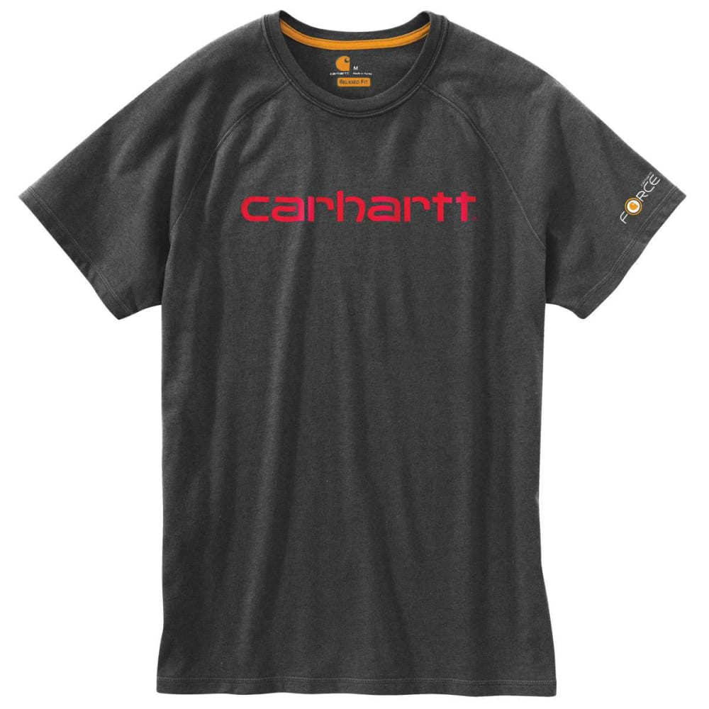 CARHARTT Men's Force Cotton Delmont Graphic Short-Sleeve Tee - CARBON HEATHER 026