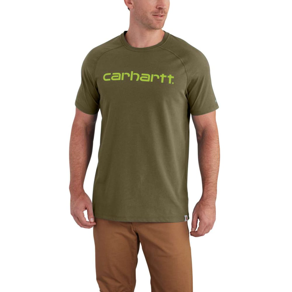 CARHARTT Men's Force Cotton Delmont Graphic Short-Sleeve Tee - MOSS 316