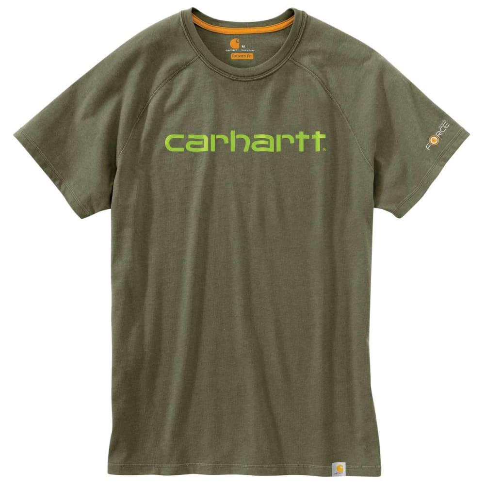 CARHARTT Men's Force Cotton Delmont Graphic Short-Sleeve Tee - MOSS 316