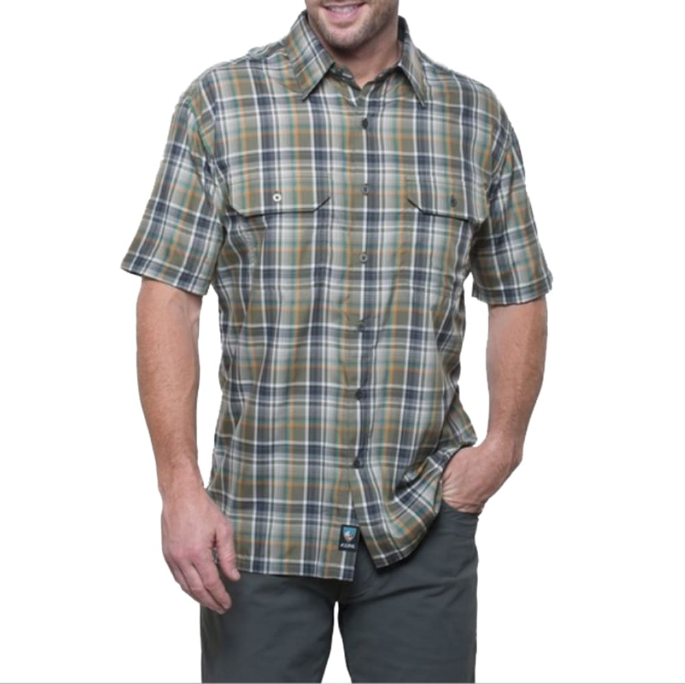 KÜHL Men's Response Plaid Short-Sleeve Shirt  - OC-OLIVE COPPER