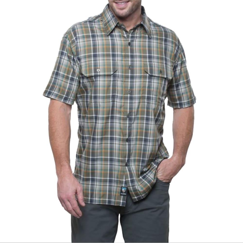 KUHL Men's Response Plaid Short-Sleeve Shirt - OC-OLIVE COPPER