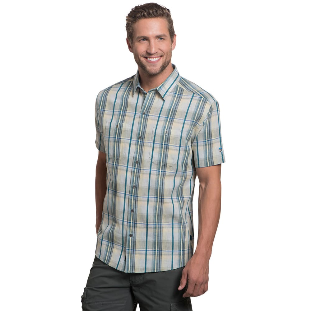 KUHL Men's Skorpio Short Sleeve Woven Shirt  - SAIL BLUE