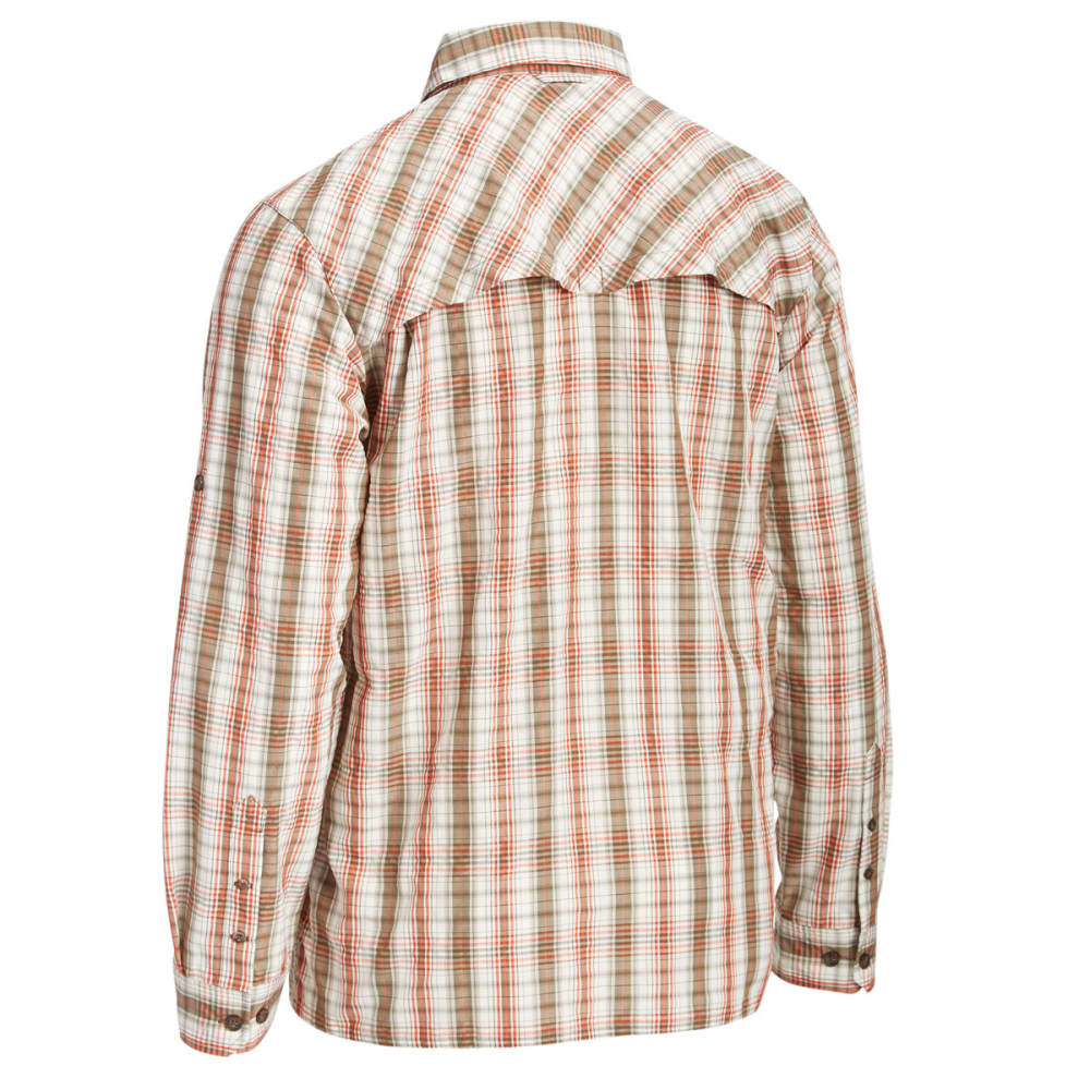EMS Men's Journey Plaid Long-Sleeve Shirt - SUMMER FIG