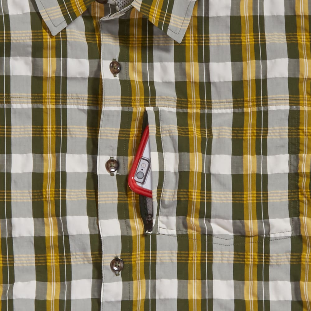 EMS Men's Journey Plaid Short-Sleeve Shirt - RIFLE GREEN