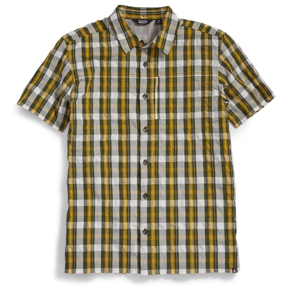 Ems men s journey plaid short sleeve shirt eastern Short sleeve plaid shirts
