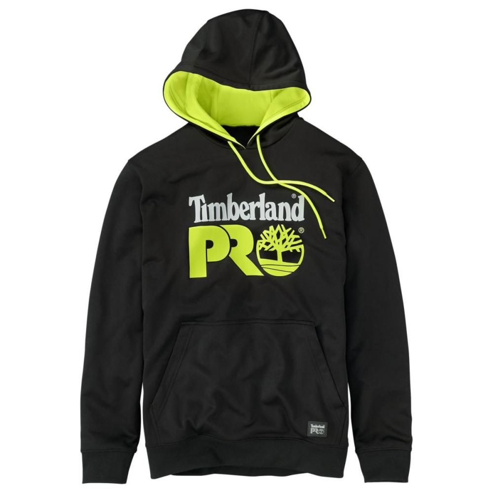 TIMBERLAND PRO Men's Hoodmaster Sweatshirt - BLACK/LIME LOGO 015