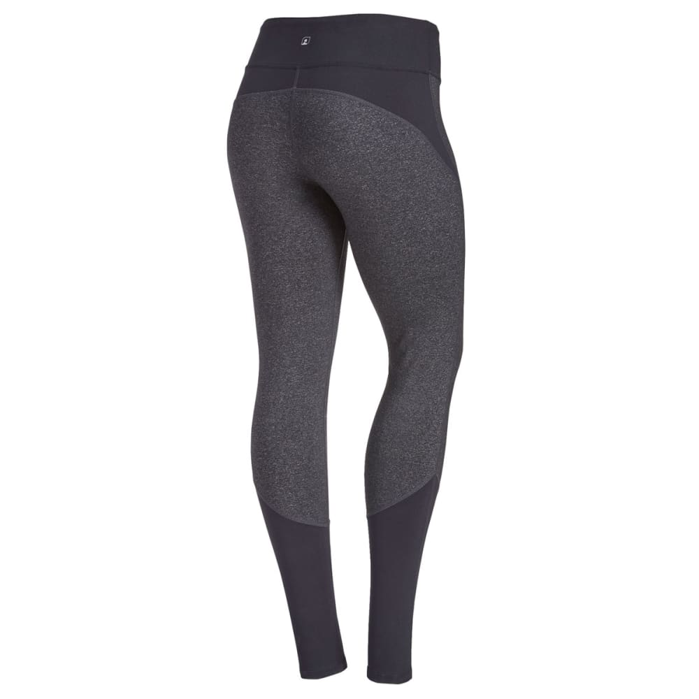 EMS Women's Techwick Fusion Color-Block Leggings - BLK/DRK GREY HTR